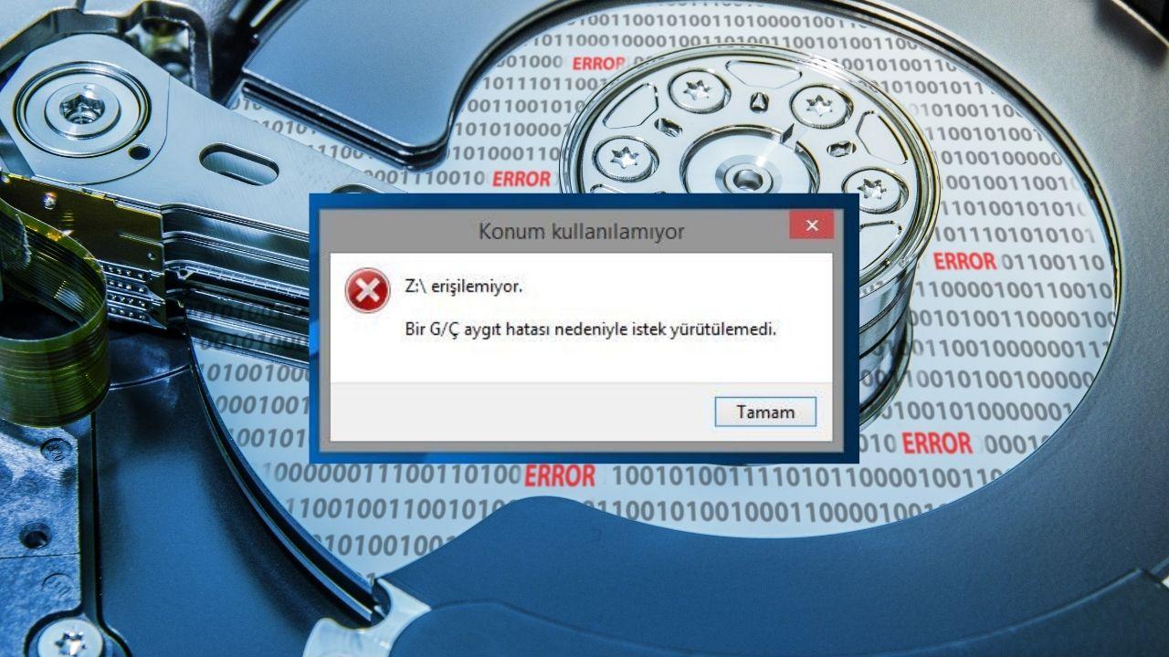 G/Ç aygıt hatası nedeniyle 'istek yürütülemedi' hatası nasıl çözülür?İşletim sistemi Windows olan bir bilgisayarınıza bağlamış olduğunuz harici depolama aygıtını açmak istediğiniz...
